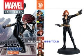Marvel Fact Files Black Widow Special With Figurine Eaglemoss